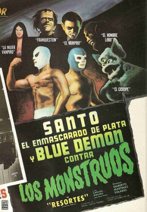 santo blue demon monster
